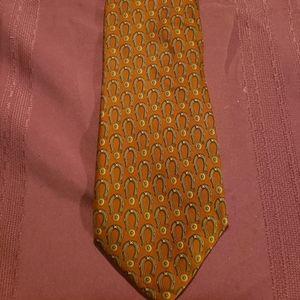 GUCCI Horse Shoes Silk Neck Tie